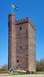 叫的helsingborg karnan中世纪塔 免版税图库摄影