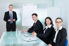 召开会议的企业队 免版税库存图片