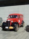 召集北京到巴黎2013年,哈尔科夫,红色汽车36 免版税库存图片