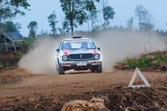 召集汽车、集会motorsport、F2泰国集会冠军2017年,经典汽车模型和品牌变化 加入在r的冠军 免版税库存图片