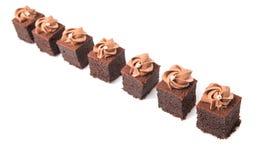 叮咬大小的巧克力蛋糕III 免版税图库摄影