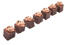 叮咬大小的巧克力蛋糕IV 库存图片
