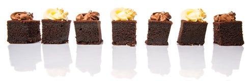 叮咬大小的巧克力蛋糕IX 库存照片