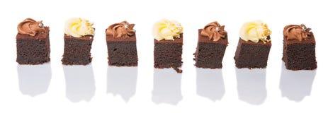 叮咬大小的巧克力蛋糕VII 库存照片