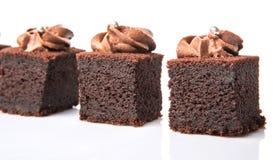 叮咬大小的巧克力蛋糕XI 免版税库存照片
