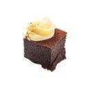 叮咬大小的巧克力蛋糕XV 图库摄影