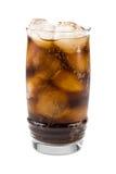 可乐冷泡沫腾涌的冰 库存图片