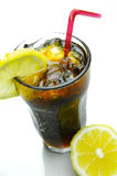 可乐柠檬 免版税库存图片