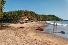 可乐海滩,南果阿,印度 免版税库存照片
