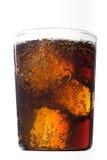 可乐玻璃冰 免版税库存照片