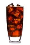 可乐玻璃查出 免版税图库摄影