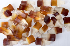 可乐瓶糖果甜点 免版税库存照片