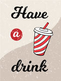 可乐葡萄酒海报传染媒介 向量例证
