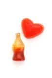 可乐装瓶糖果 免版税库存照片