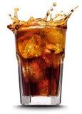 可乐飞溅 库存图片