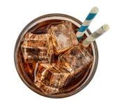 可乐饮料玻璃冰 库存照片