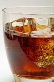 可乐饮料玻璃冰 免版税图库摄影