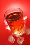 可乐饮料玻璃 库存图片