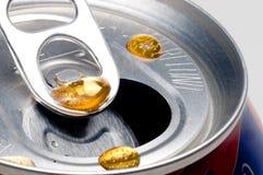 可乐滴水 免版税库存照片
