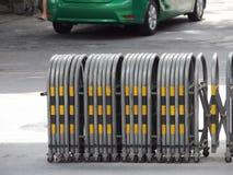 可伸缩的交通障碍 免版税库存照片