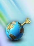 可再充电的地球 向量例证