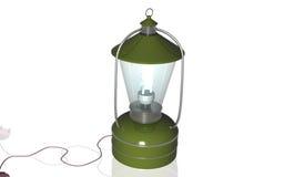 可再充电被撒粉于的灯笼 库存图片