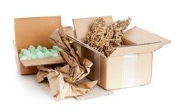 可再循环的包装材料 免版税库存图片