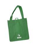 可再用的绿色购物袋与回收符号 免版税库存图片