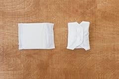 可再用的eco垫和单一用途的毒性垫月经天,平的位置 白色女性耐洗,健康和eco友好的垫 库存照片