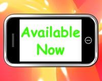 可利用现在电话展示在储蓄或在线排序 免版税库存照片