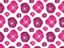 可升级的桃红色牡丹花纹花样 库存例证
