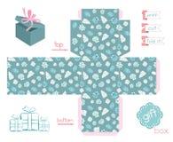 可印的礼物盒各种各样的壳 免版税图库摄影