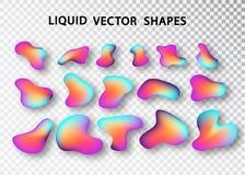 可变的形状布局被隔绝的模板集合 r 未来派时髦动态元素 塔盘进出口液位高差 库存例证