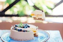 可口乳脂状的蛋糕 免版税图库摄影