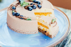 可口乳脂状的蛋糕 免版税库存照片