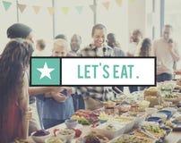 可口享受食物饮料食家健康概念 免版税图库摄影