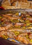 可口传统膳食地中海的肉菜饭 免版税库存照片