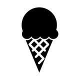 可口冰淇凌被隔绝的象 库存例证