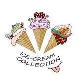 可口冰淇淋的一汇集 库存图片