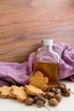 可口加拿大槭树奶油曲奇饼、枫蜜和橡子 免版税库存照片