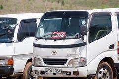 可口可乐丰田卡车 免版税库存图片