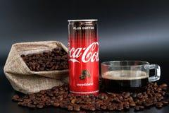 可口可乐加上咖啡 图库摄影