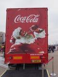 可口可乐卡车在布莱克浦 免版税库存照片