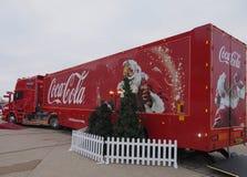 可口可乐卡车在布莱克浦 免版税图库摄影