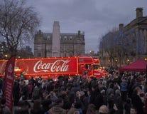 可口可乐卡车在普雷斯顿 免版税图库摄影