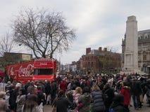 可口可乐卡车在普雷斯顿 库存照片