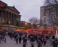 可口可乐卡车在普雷斯顿 库存图片