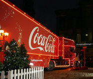 可口可乐卡车在普雷斯顿 免版税库存照片