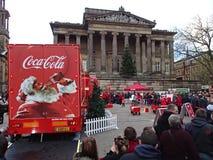 可口可乐卡车在普雷斯顿 免版税库存图片