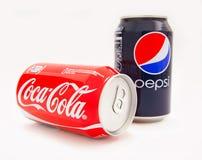 可口可乐和百事可乐 免版税库存照片